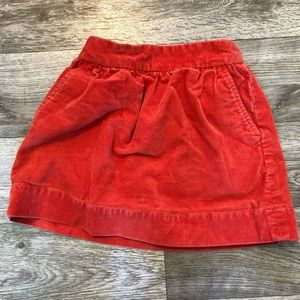 J Crew Crewcuts Corduroy Skirt Girls 4/5